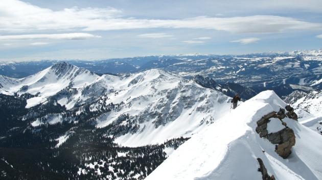 Rob on the summit ridge