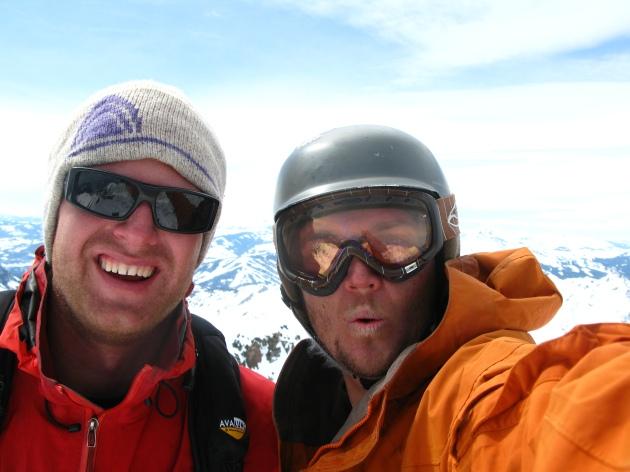Rob and I on the summit of Gallatin Peak