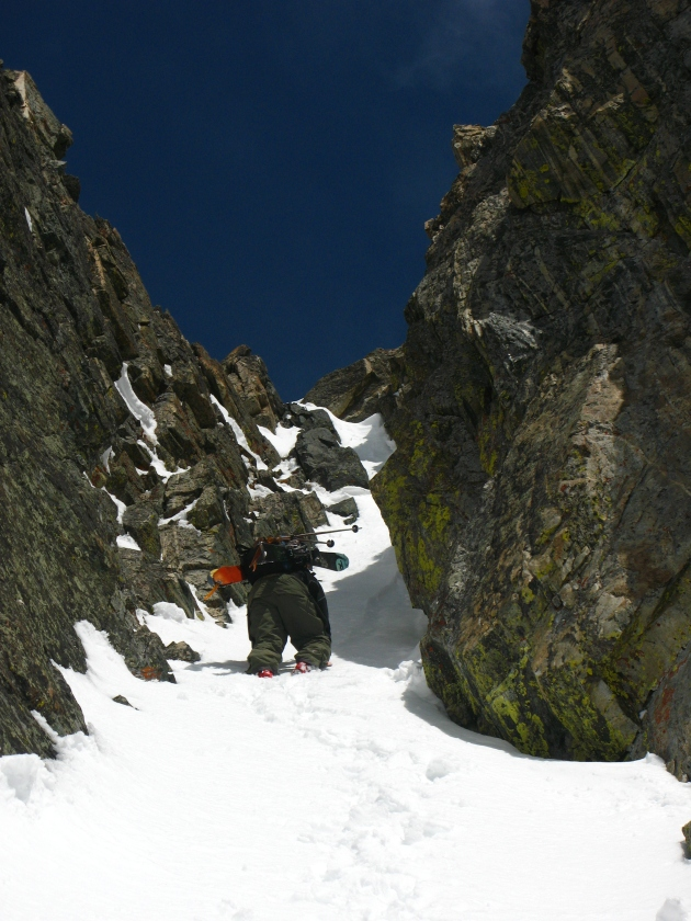 Steve Gilson gets technical on the West Ridge of Beehive Peak