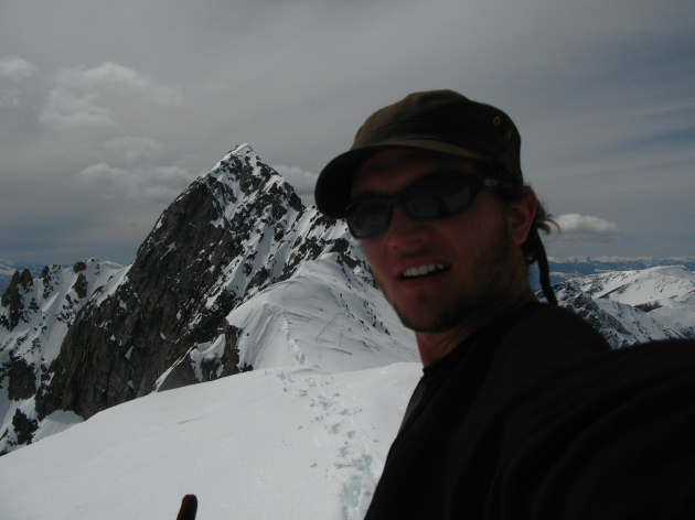 Me with the summit of Beehive Peak in the background.