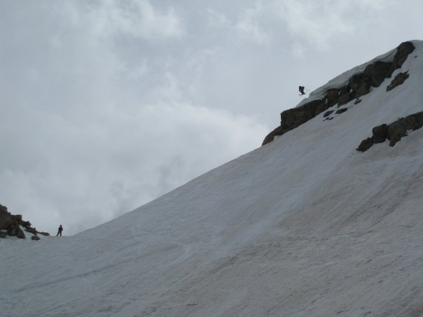 Airing the top of Gardiner Headwall - Photo: Pat Owen