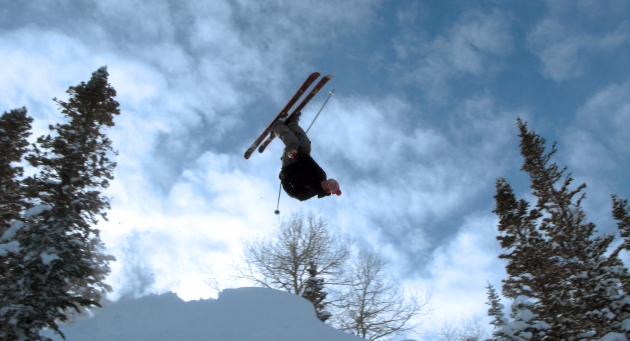 Inverted in CO.  Skier: Jon Jay