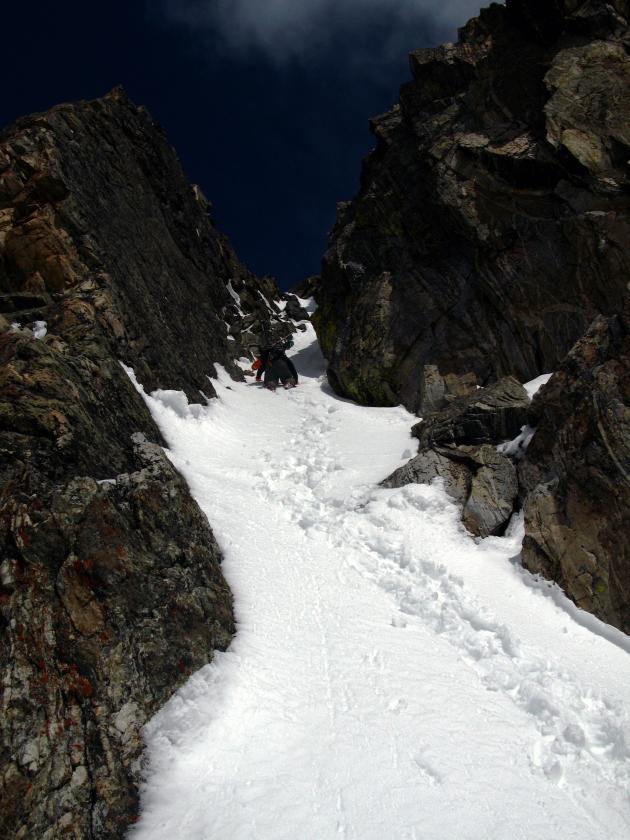 Climbing Beehive Peak in the Spanish Peaks, Montana