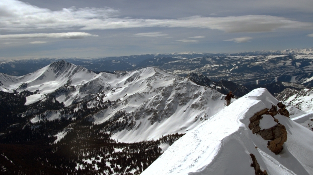 Rob Woodlich climbs Gallatin Peak