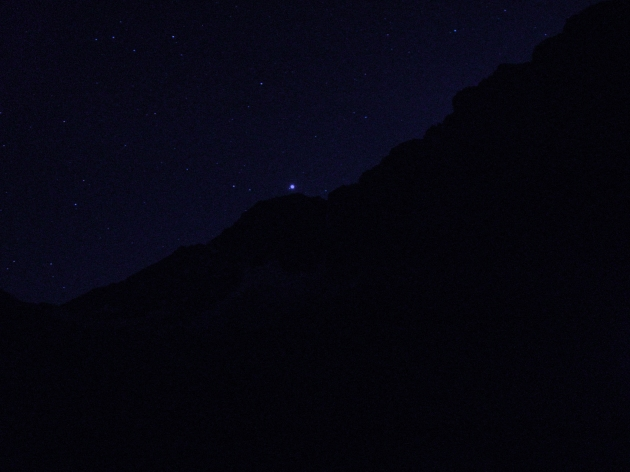 Venus sets over Granite Peak, not a bad way to spend my 25th birthday.