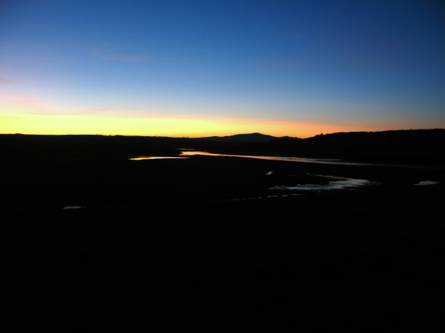Sunset over Hayden Valley.  One of the best places to scope animals.
