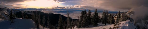 Gallatin Valley from the Bridger Ridge