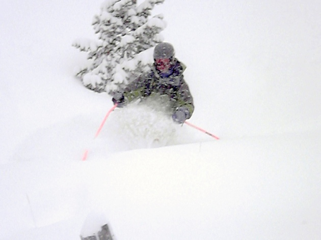 Steve G enjoying some early season powder skiing
